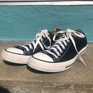 Black and White Converse Low-Tops